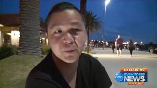 African savages attack workmen at St Kilda Beach, Melbourne