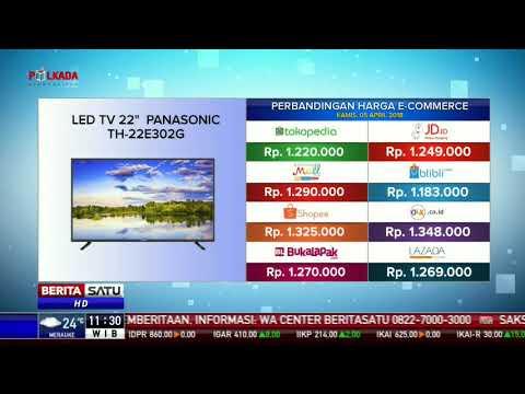 Perbandingan Harga E-Commerce: LED TV 22 Panasonic TH-22