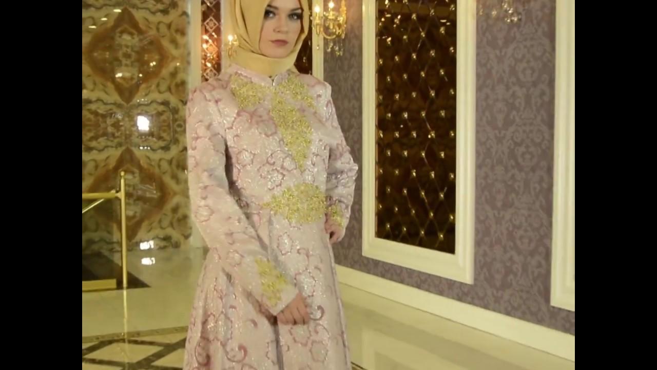 ae2c28055b091 Tesetturisland.com | Tesettürlü Abiye Elbise - Kolları Boncuk Detaylı Pembe Tesettürlü  Abiye Elbise