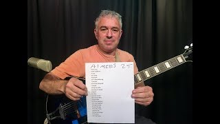 Top 25 requested songs, Fingerstyle Guitar, jazz guitar, pop/rock/soul