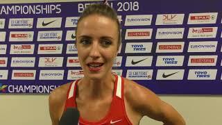 Diana Mezuliáníková po finále 1500 m na ME 2018