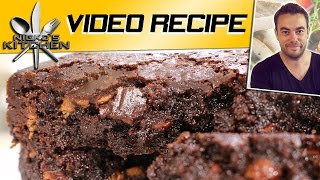 Double Chocolate Fudge Brownies | Nicko's Kitchen