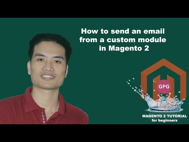 How to send an email from a custom module in Magento 2