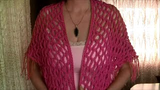 How to crochet a triangle shawl, easy and elegant