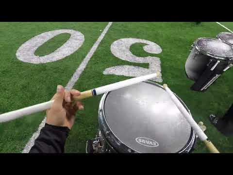 Adair County HighSchool Marching Band 2018 snare cam- Tanner Stonecypher
