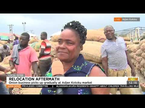 Relocation Aftermath: Onion business picks up gradually at Adjen Kotoku market- Adom TV (15-7-21)