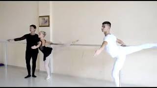 Видео с открытого  урока по классическому танцу (4-5 год обучения) Ольга Трегуб