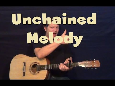 Unchained Melody (Righteous Brothers) Easy Guitar Lesson How to Play Tutorial