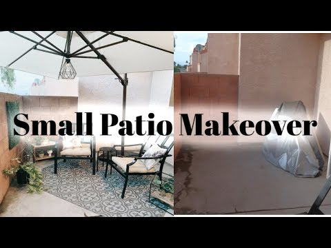 Small Patio Makeover / DIY Patio On a Budget