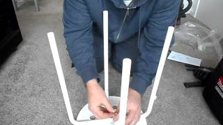 Flat pack furniture assembly (ikea marius stool)