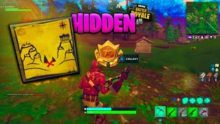 "Fortnite ""Snobby Shores Treasure Map"" battle pass challenge week 3 - Secret!"