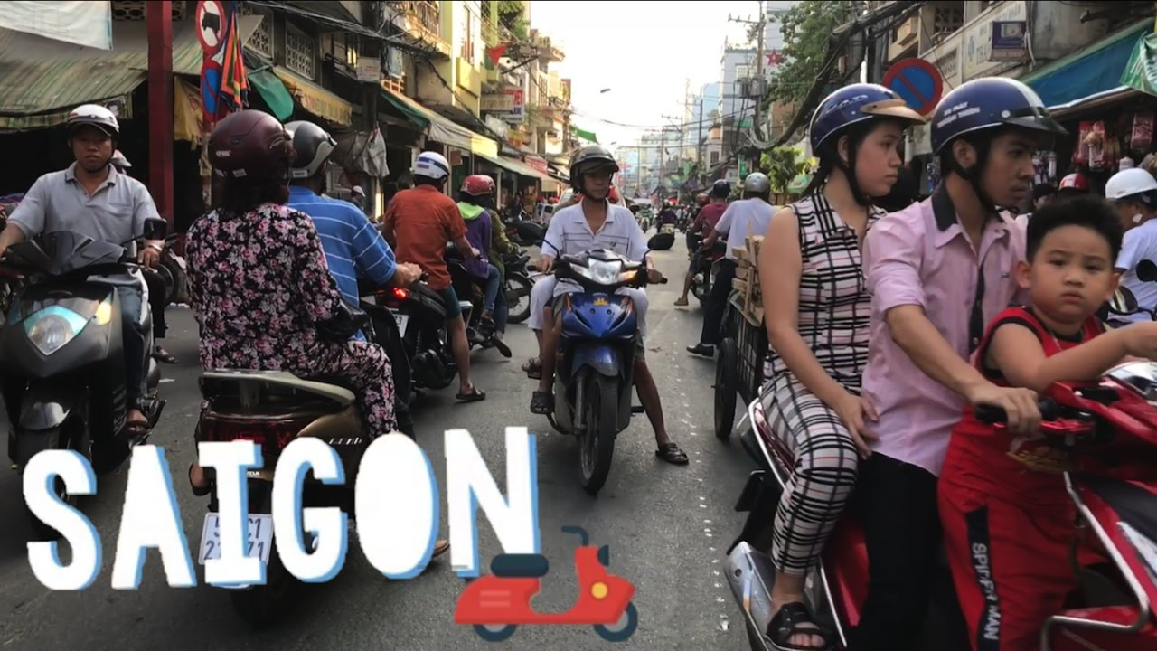 Ride with me thru Crazy Saigon Traffic ?Motorbikes Today in Vietnam, Ho Chi Minh City Travel 2017