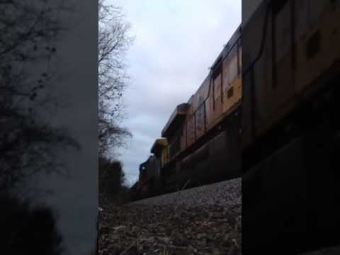 CSX freight led by UP on Columbia, TN branch