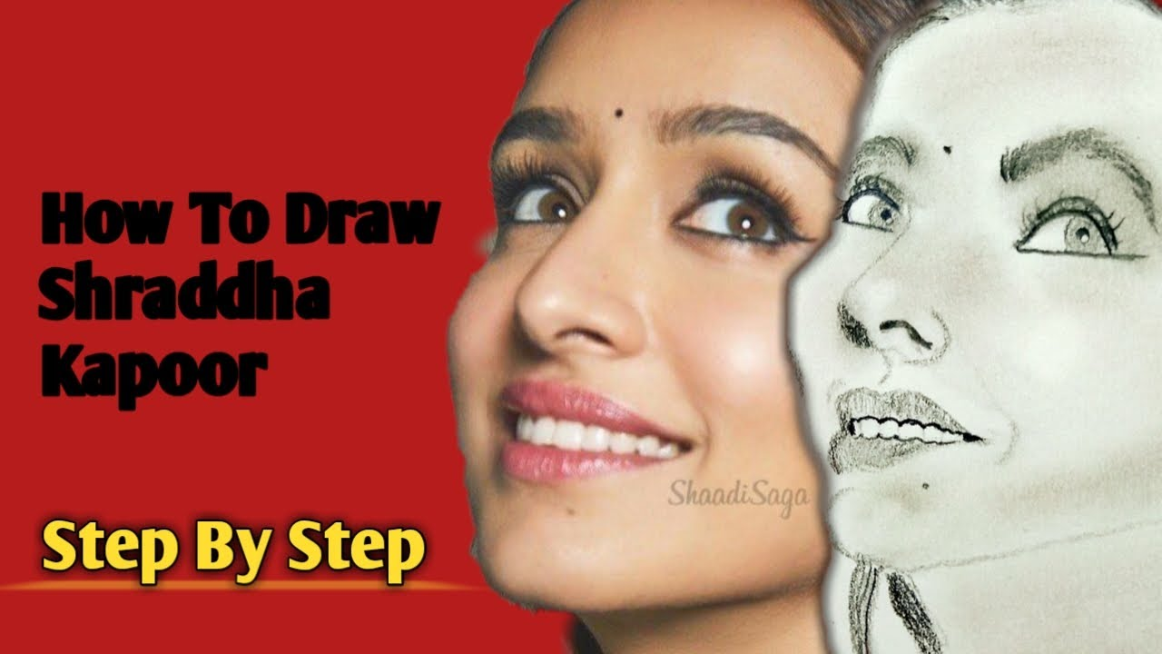 How To Draw Shraddha Kapoor /step By Step /Pencil sketch ...