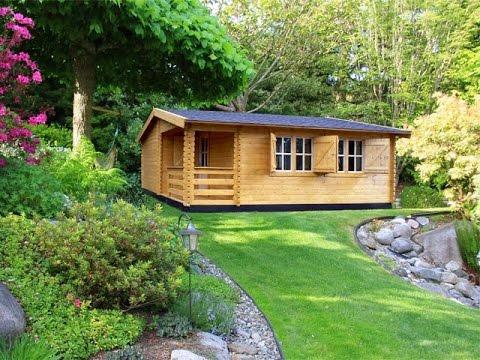 Mediniai sodo namai ir nameliai