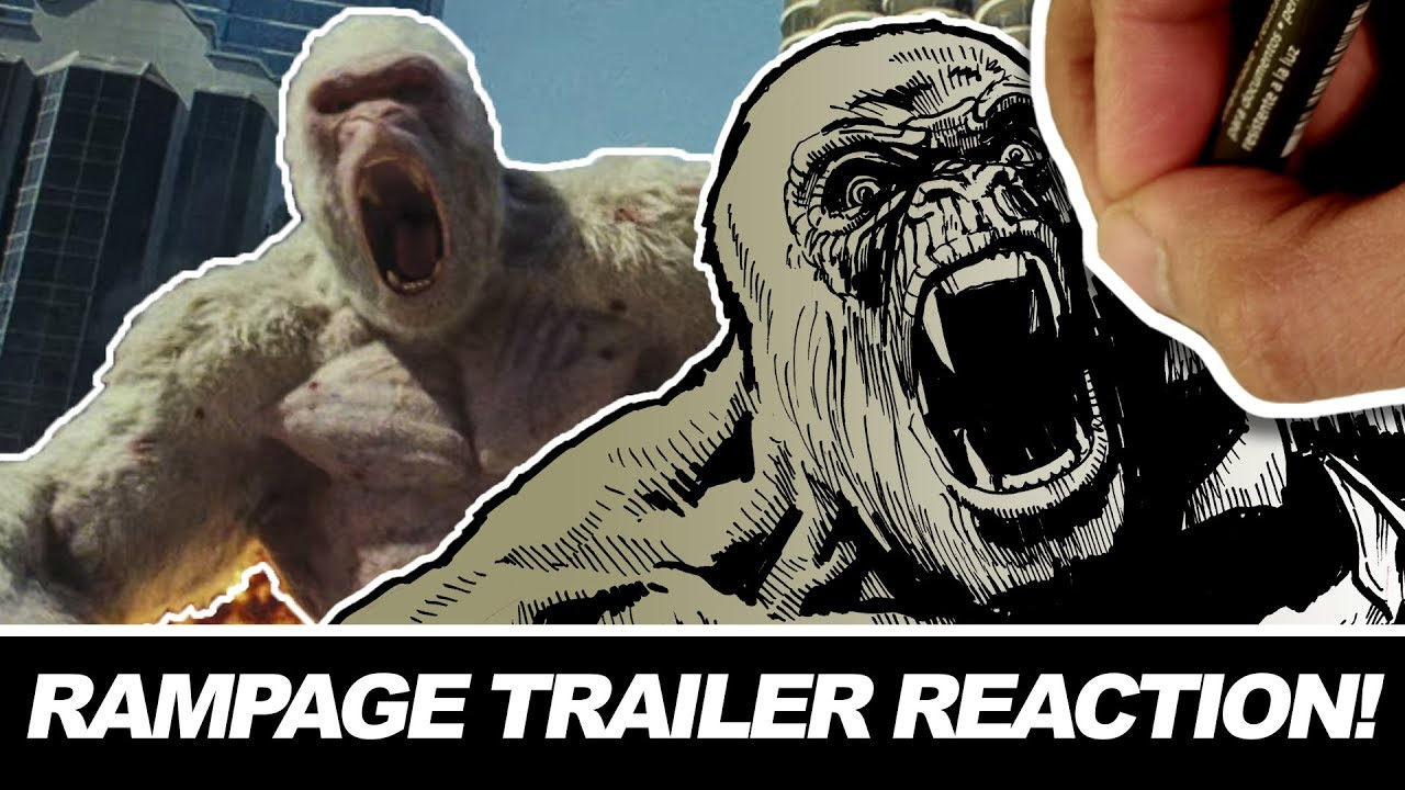 Rampage Drawn Trailer Reaction Youtube