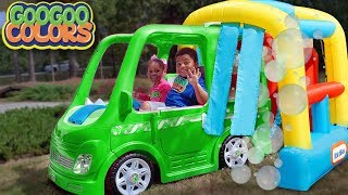 Goo Goo Gaga Pretend Play with Car Wash! (Learn to Recognize Colors)