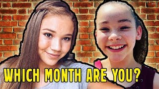 Your Haschak Sisters Song Based on your Birthday Month (NEW 2018)!!!