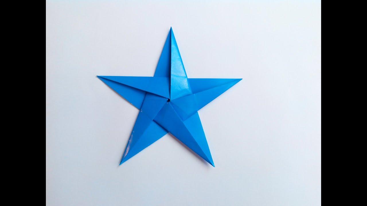 Пятиконечная Звездочка Оригами, The Five-Pointed Asterisk -2089