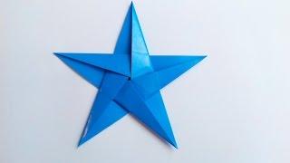 Пятиконечная Звездочка оригами, The five-pointed asterisk origami