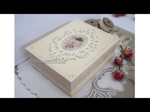Decoupage tutorial - DIY.  How to decoupage box with napkins