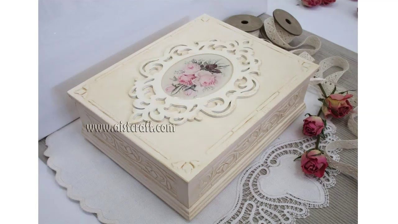 Decoupage tutorial diy how to decoupage box with for Wooden box tutorial