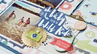 Scrapbooking Process: Oh Bąby It's a Wild Ride