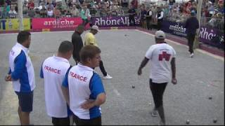 International à pétanque de la ville de Ruoms 2017 : Sortie de poules France VS Madagascar