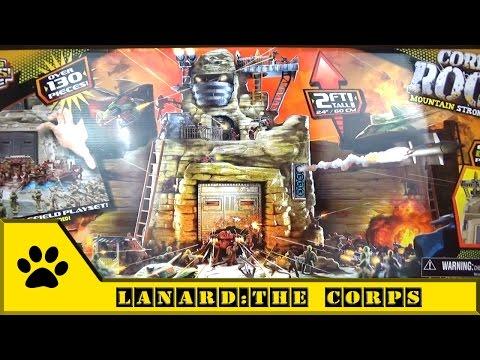 Lanard, The Corps - Rock Playset / Солдатики и огромное укрепление