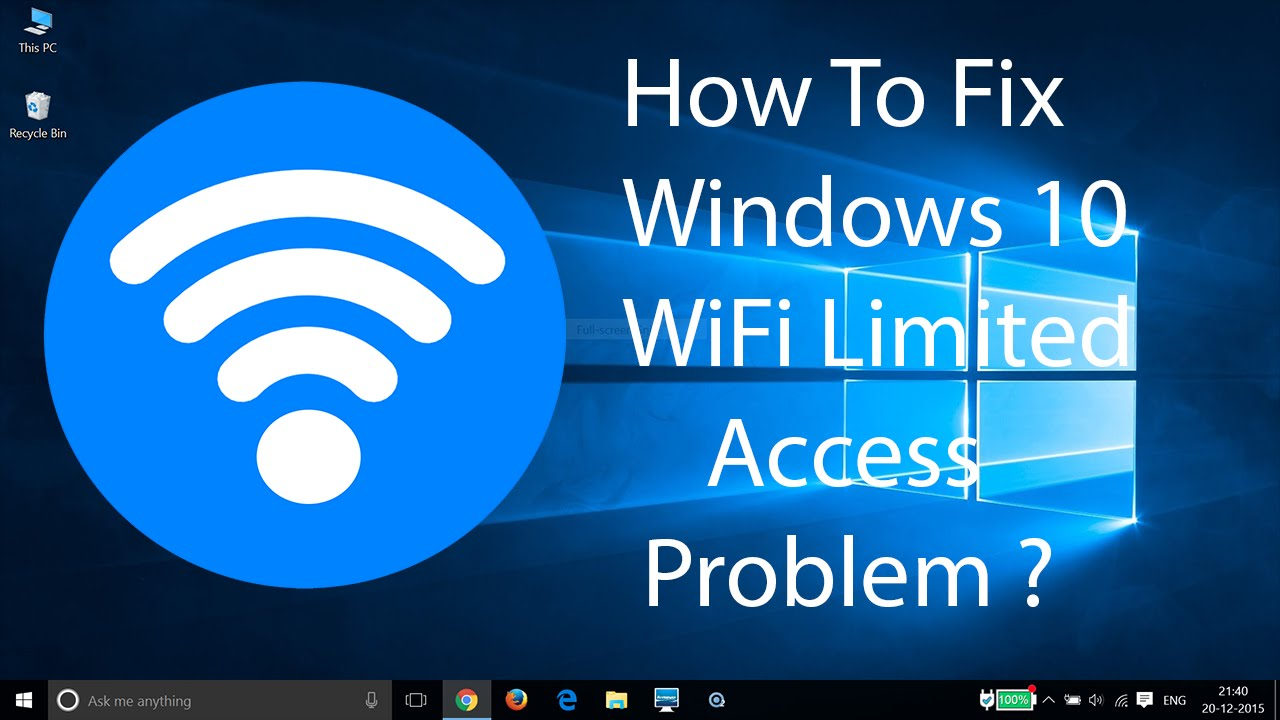wifi windows 10 problem