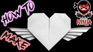 How to make: Origami Paper Heart with wings (Francis Ow)