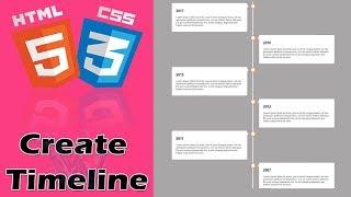 Vertical Timeline CSS Bootstrap | HTML5 Timeline Animation | HTML Timeline CSS