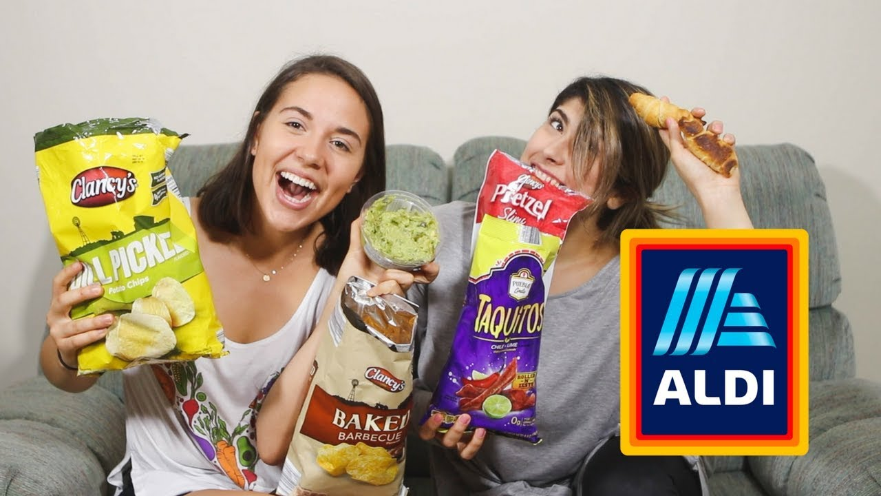 Finding VEGAN SNACKS at ALDI! // Taste Test