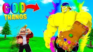 I became the MAX STRENGTH BOSS and DESTROYED THE WORLD.. (Roblox)
