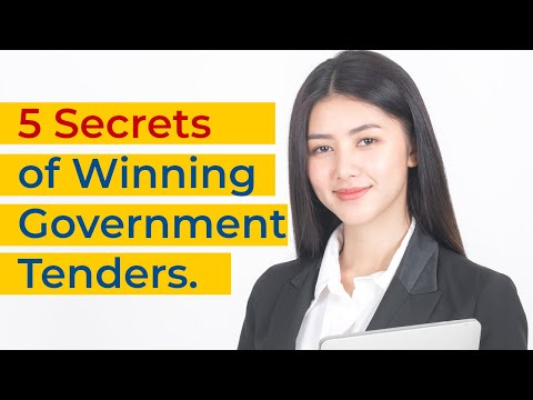 How to win tender bids - 5 Secrets of Winning Government Tenders | How to win a tender contract