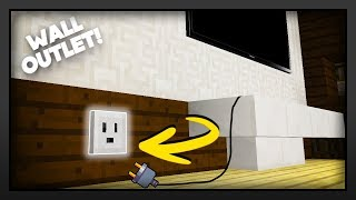 Minecraft - How To Make A Wall Outlet