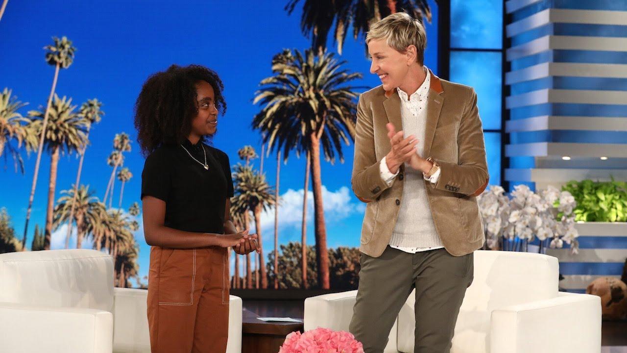 Young Gun Control Activist Naomi Wadler Visits Ellen