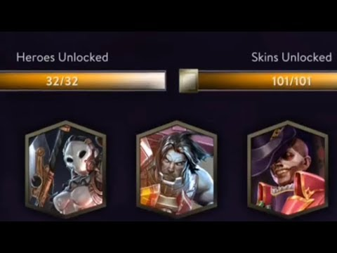 Vainglory - Free All Skins And Heroes Unlocked Account!