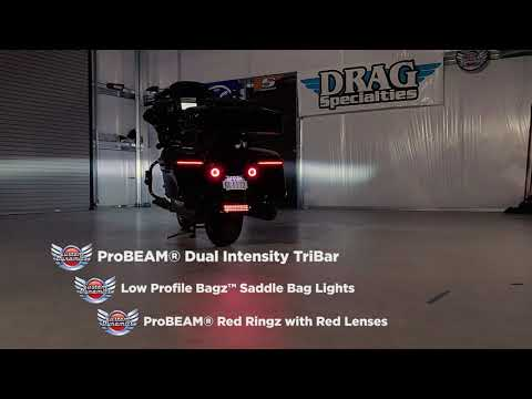 Low Profile LED BAGZ™ & ProBEAM® Dual Intensity LED TriBar for Harley Davidson Motorcycles