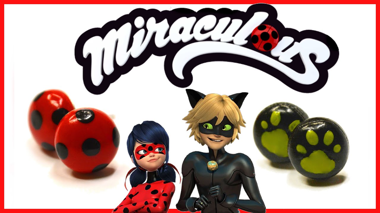 Miraculous Ladybug Earrings Chat Noir Earrings Polymer