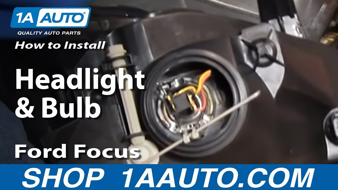 How To Replace Headlights Amp Bulbs 02 04 Ford Focus Youtube