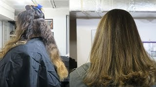 BALAYAGE HIGHLIGHTS IN FOILS | Haircut & Color Tutorial