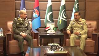 Comd-in-Chief of Egypt Armed Forces called on General Nadeem Raza, CJCSC at JS HQ, Rawalpindi