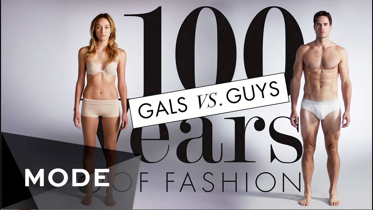 100 Years Of Fashion Gals Vs Guys Glam Youtube
