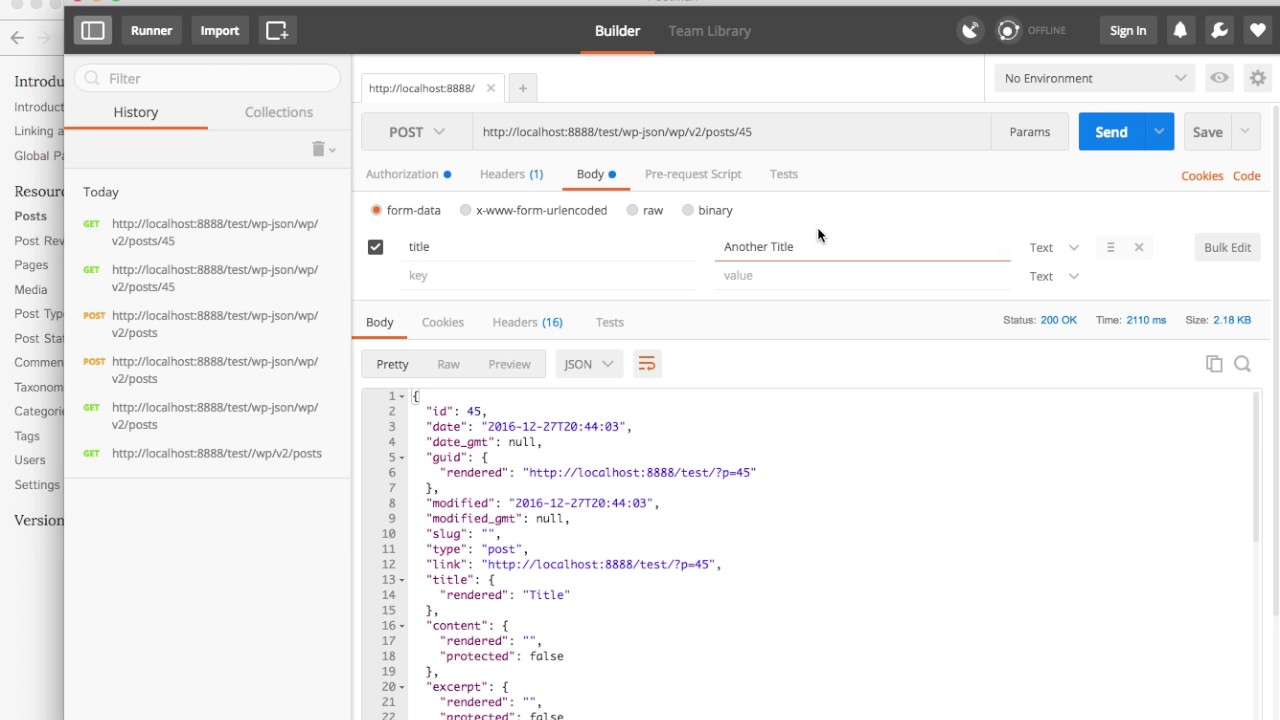 WP REST API introduction doing CRUD operations with Postman - Dinamiko