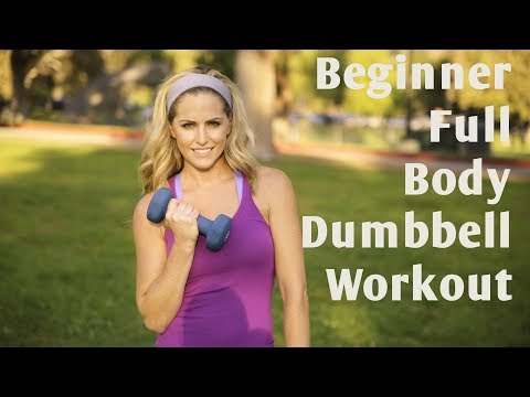 15 Minute Beginner Full Body Dumbbell Workout - YouTube