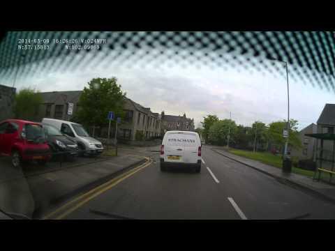Driving at Beach Boulevard roundabout Aberdeen.