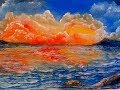 How to paint SUNSET SEA LANDSCAPE