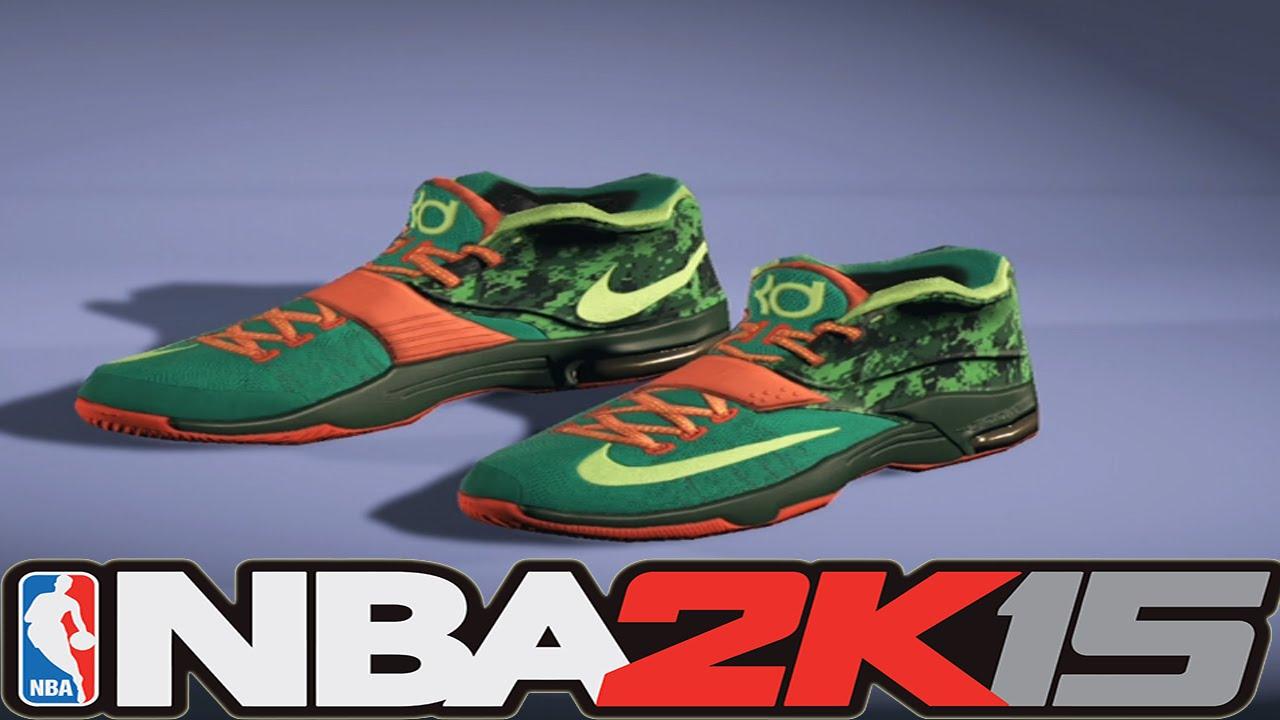 #NBA2K15 Next Gen Shoes - Nike KD 7 Weatherman - YouTube