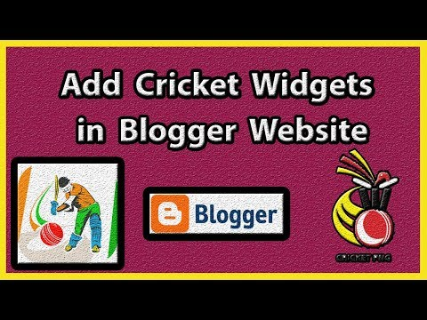 how to add live cricket score in blogger website  [ hindi / urdu ]